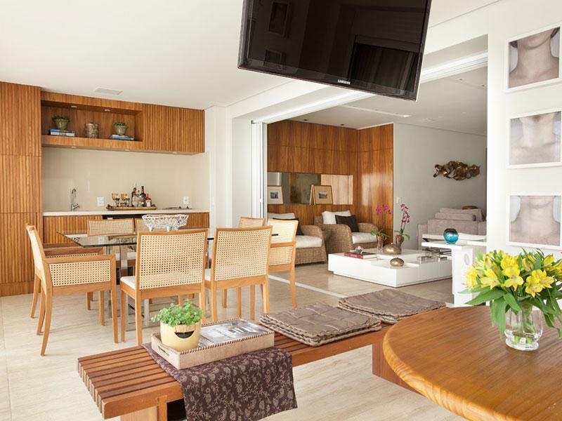 Decoração de Apartamento com Área Gourmet em Moema